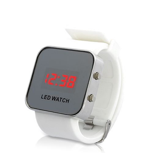 mirror-led-watch-with-digital-display-rubber-strap-white
