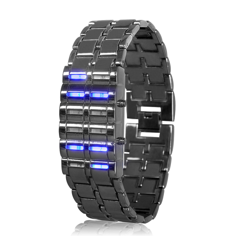 binary-led-watch-blue-samurai-binary-time-display-12-blue-leds