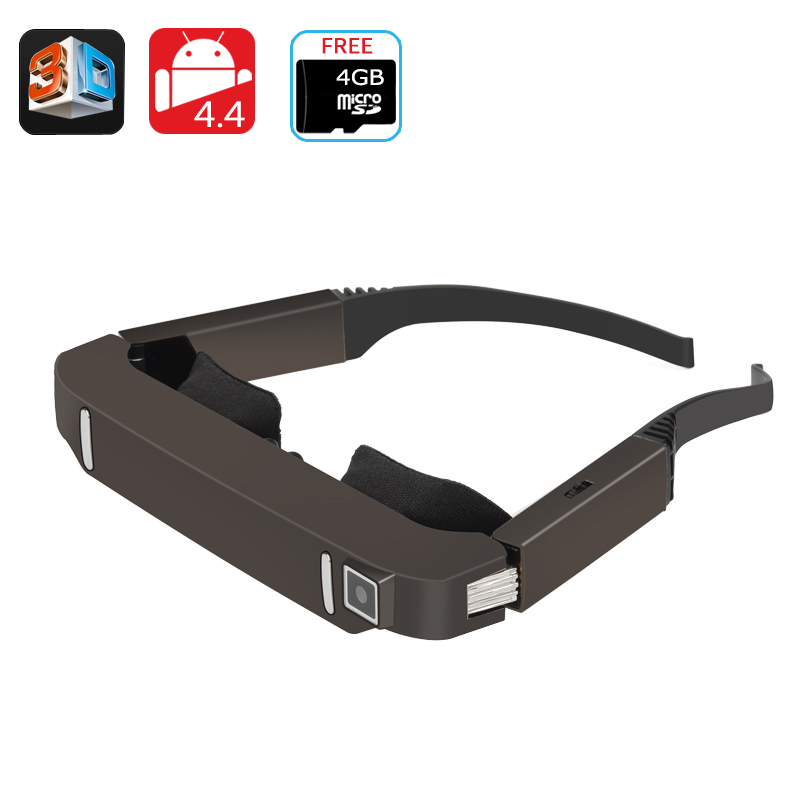 Vision 800 3D Video Glasses - Android 4.4, Side By Side Video, 5MP Camera, 1080p Support, Bluetooth, Wi-Fi CVAHA-E580