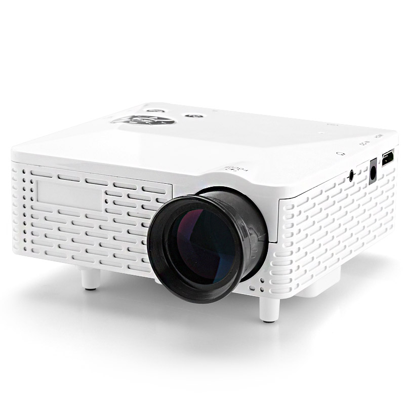 60 Lumens Mini Projector - 400:1 Aspect Ratio, 1.67 Million Colors, 5 Input Terminals, 20 To 80 Inch Projection (White)