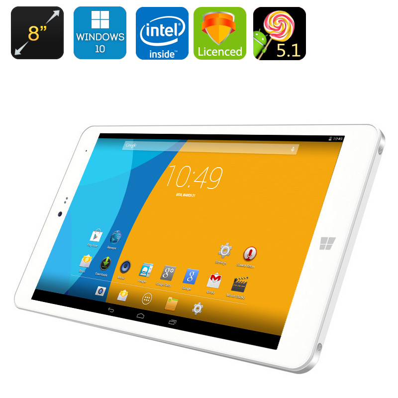 CHUWI Hi8 Pro Windows 10 + Android Tablet PC - 8 Inch 1920x1200 Display, USB Type-C, Mini HDMI, OTG, Bluetooth