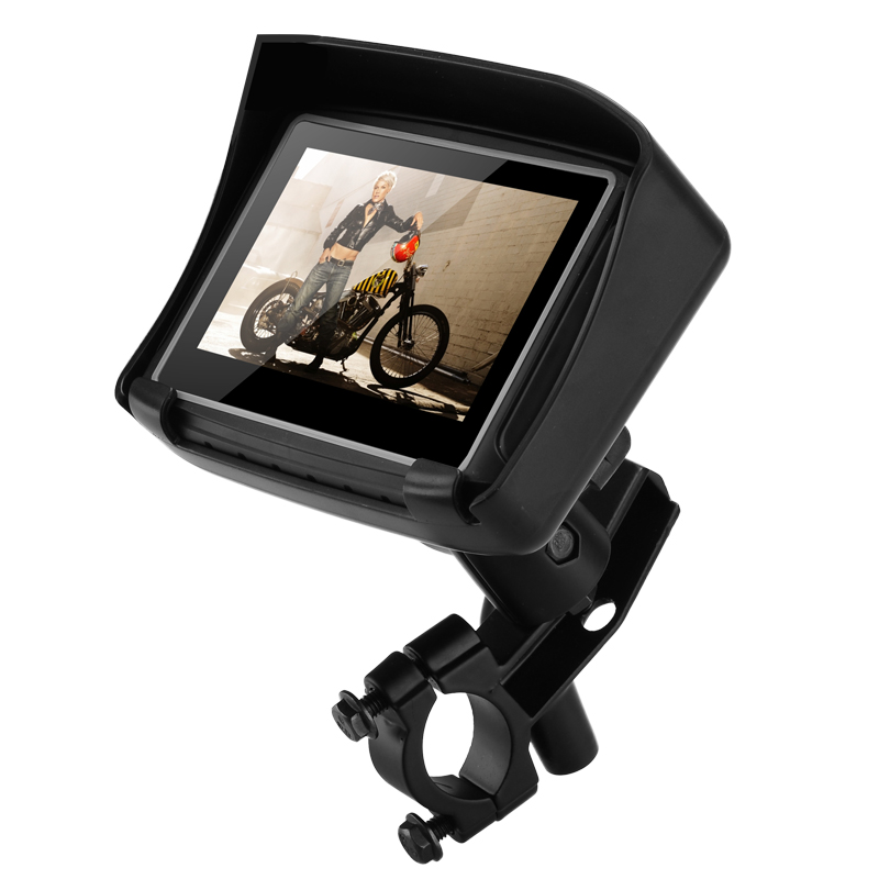 Motorbike GPS Navigation - IPX7 Waterproof, 4.3 Inch Touch Screen, 8GB Memory, Micro SD Card Slot, Mounting Brackets CVUG-TR59