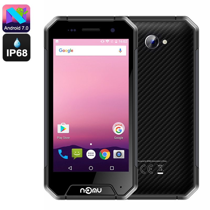 NOMU S30 Mini Android Phone - Android 7.0, Quad-Core CPU, 3GB RAM, HD Display, Dual-IMEI, 4G, IP68 Waterproof, 3000mAh (Grey)
