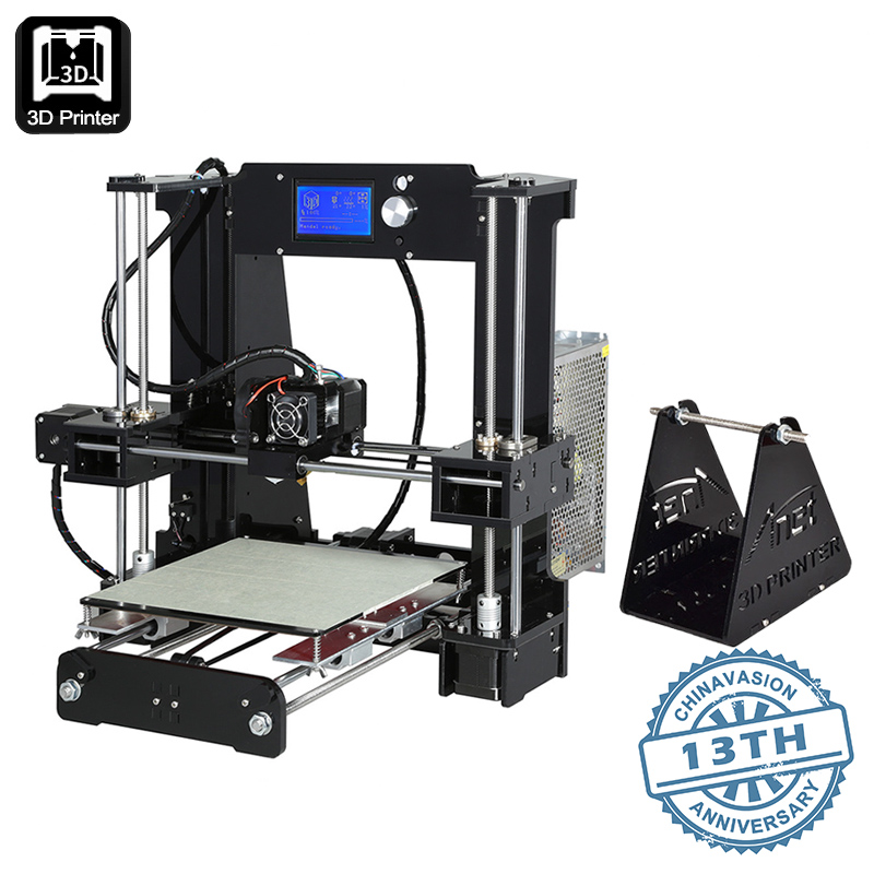 ANET A6 DIY 3D Printer Kit - Metal + Acrylic Frame, Multiple Filaments, 100MM Per Second Print Speed, Windos Mac + Linux Support