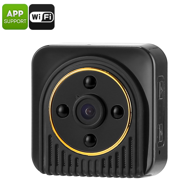 Mini WiFi Camera - 10MP CMOS, 720p HD Footage, 150-Degree Angle, Motion Detection, Rotating Magnetic Base, 5m Night Vision