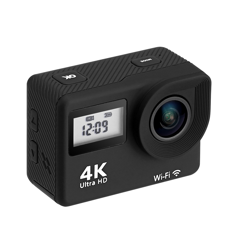 Image of 4K Sports Action Camera - 170-Degree Lens, WiFi, 2 Inch Display, IP68 Waterproof Case, 16MP CMOS Sensor, App Support