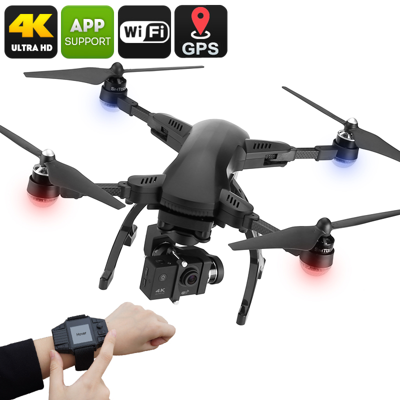 Drone Simtoo Dragonfly - 4K UHD Camera, Foldaway Arms, Follow Me, Point Of Interest, Panoramic Shot, Auto Hover, Takeoff / Land