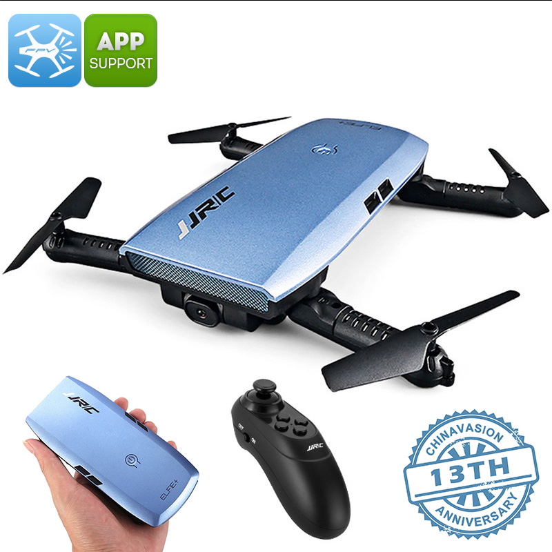 JJRC H47 ELFIE+ Foldable Drone - 720p Camera, 6 Axis, 7 Min Flight Time, FPV, App Support, Flight Planning, Headless Mode