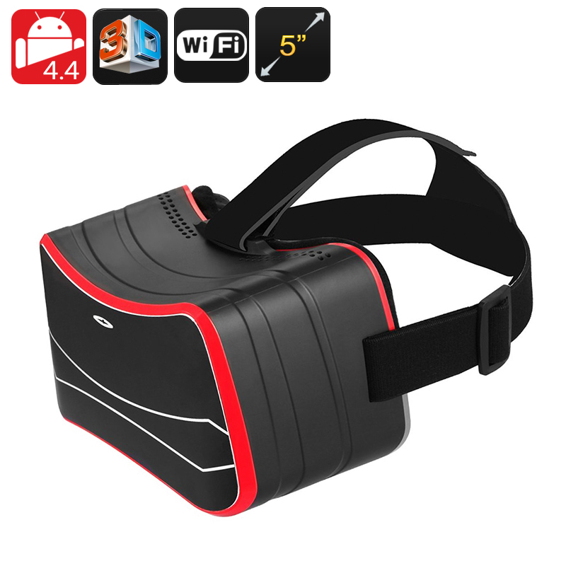 Android 3D VR Glasses - 3D Side By Side, Gyroscopic Sensor, 5 Inch HD Screen, Quad Core CPU, Wi-Fi, Bluetooth, Micro SD Slot CVAGW-E645