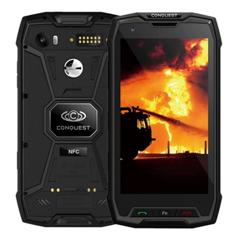 Conquest S9 Rugged Smartphone, IP68 Waterproof, 5.5Inch IPS, Android 7.1 MTK6757 Octa Core, OTG, POC, IR Remote Control