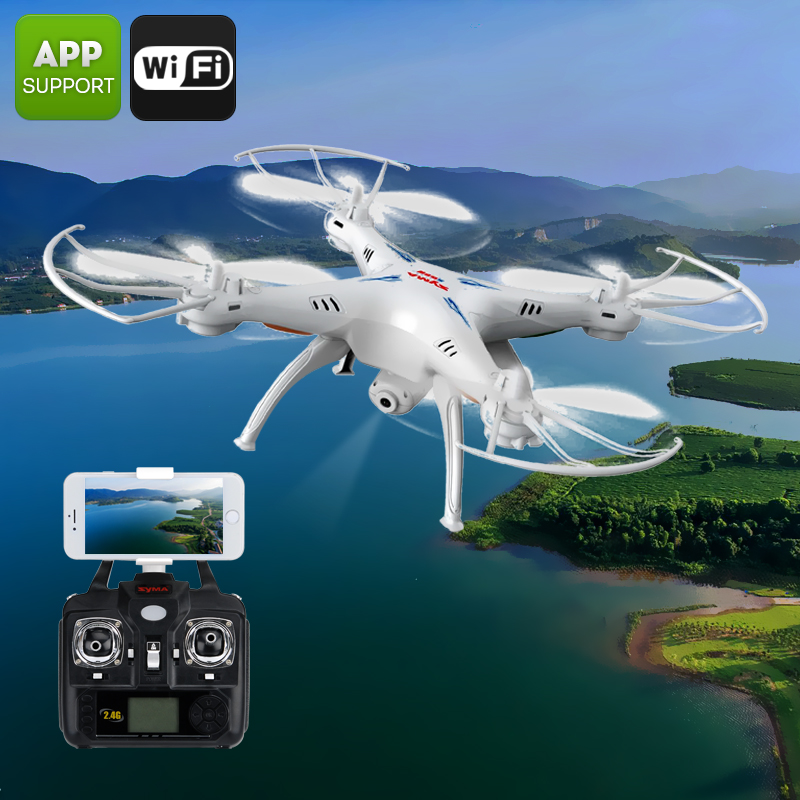 X5SW Quadcopter + Camera  - 6 Axis, Remote Control, FPV Camera, iOS + Android APP, FPV CVACC-A673