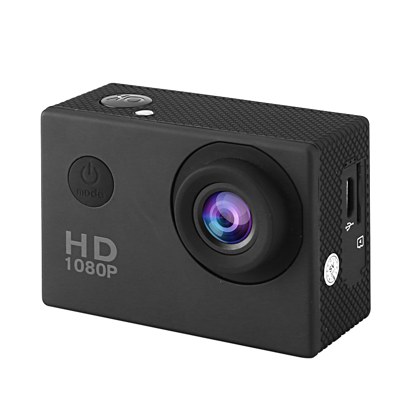 Image of 1080p Action Camera - IP68 Case, 140-Degree Lens, 2-Inch Display, 5MP CMOS Sensor, 30FPS, 900mAh Battery, 32GB SD Card Slot