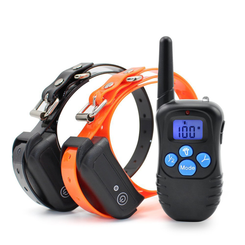 Dog Trainer Collar - Adjustable Collar Size, 2 Collar Receivers, 300m Range, Waterproof, 300mAh Battery, 3 Warning Modes CVAGW-G796