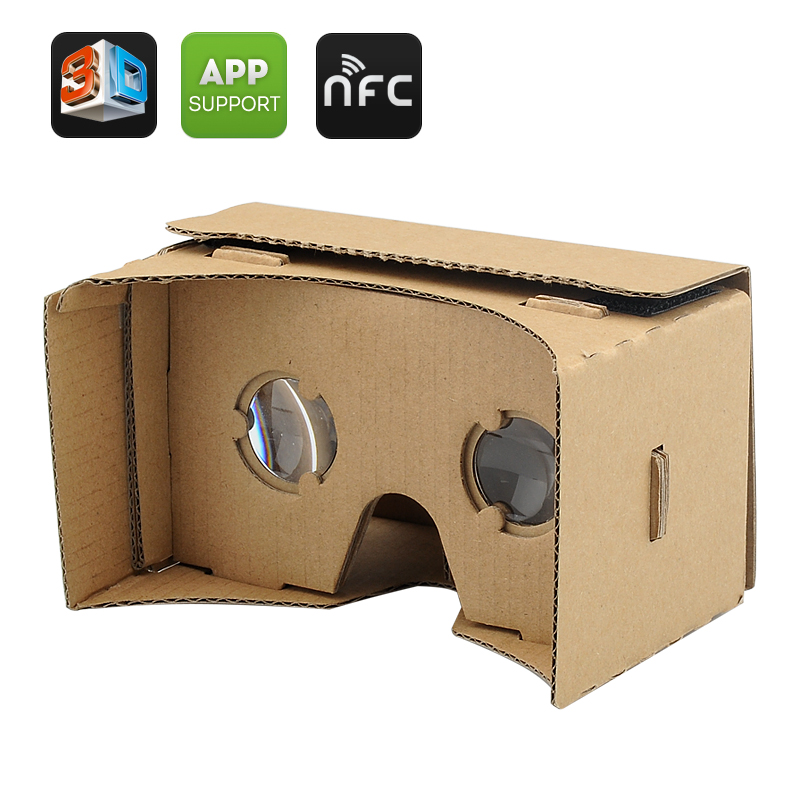 DIY 3D Google Cardboard VR Glasses - Mobile Phone Virtual Reality 3D Glasses, NFC, For iPhone + Android Phones CVACD-E398