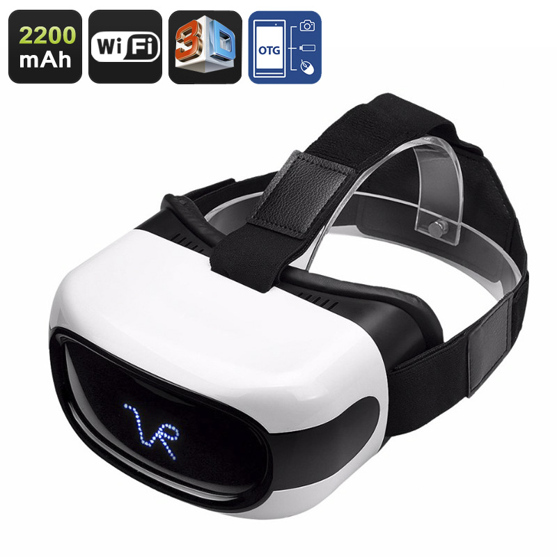 3D Android VR Glasses - 5 Inch HD Display, 3D Support, Quad-Core CPU, Wi-Fi, 32GB External Memory, Google Play, OTG, 2200mAh CVAHU-F001