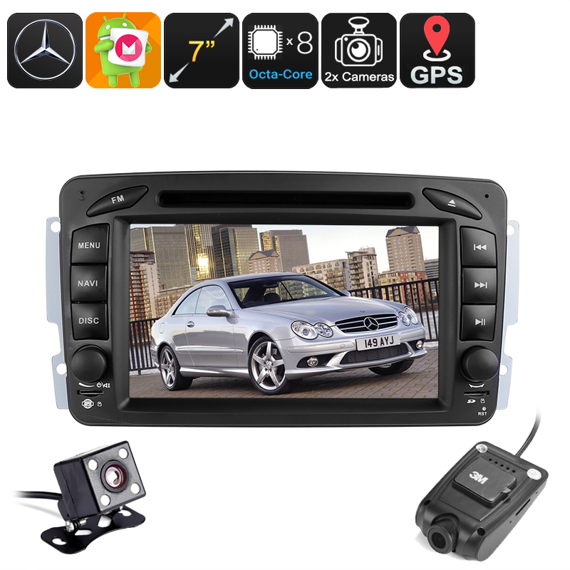 2 DIN Android Car for Mercedes Benz - Region Free DVD, Dash Cam, 7 Inch touchscreen, Android 6.0, BT, Wi-Fi, Hands Free, DAB CVAIY-C558