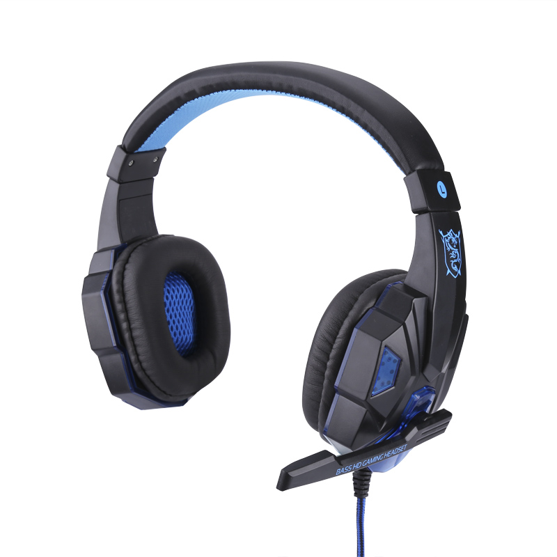 LED Gaming Headphones - Retractable Mic, Stereo Headphones, Built-in LED, Comfortable Padding, Durable Audio Lead CVXD-A791