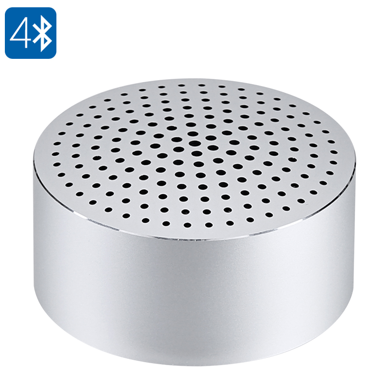 Xiaomi Mi Mini Bluetooth Speaker - 480mAh Battery, Noise Reduction, Hands Free, Bluetooth 4.0, Tough Aluminum Alloy (Silver)