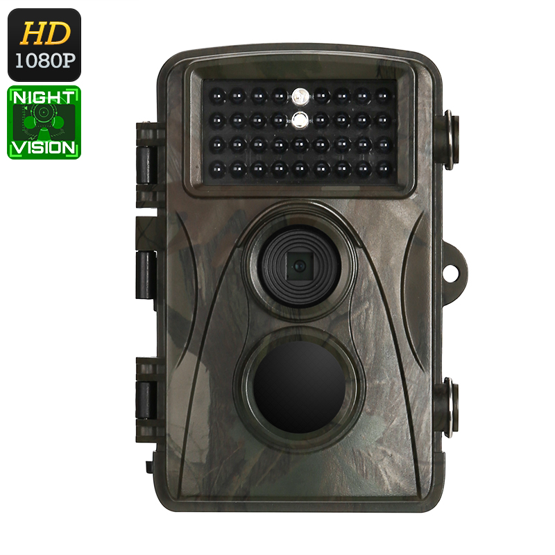 1080p Trail Camera – Full-HD Video, 12MP Images, 2.4-Inch Display, 8 Months Standby, IR Cut, Night Vision, 110-Degree Lens, IP56