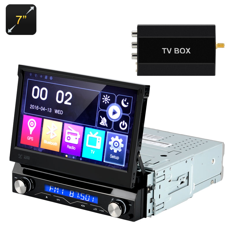 7 Inch Car DVD Player - 1 DIN, Detachable Panel, GPS, Bluetooth, FM Radion, Region Free CVJY-C438