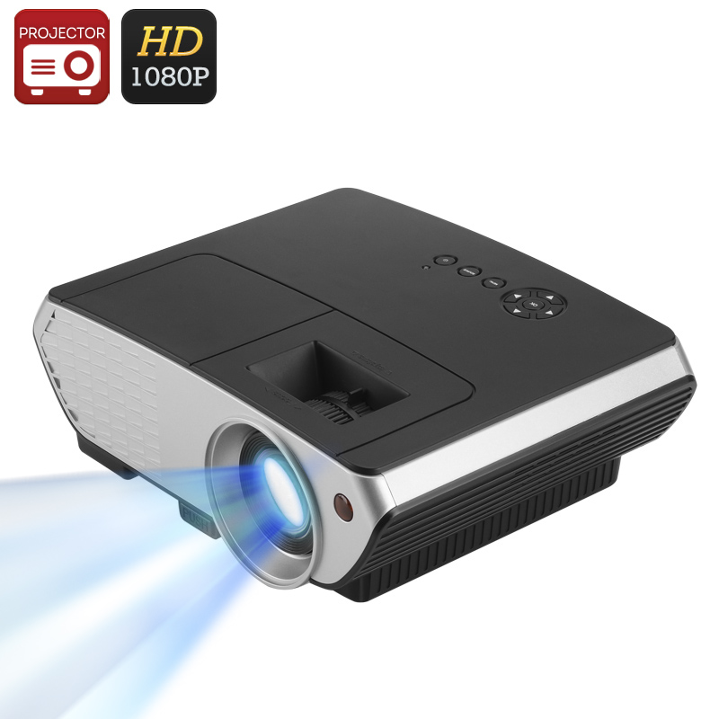 2000 Lumen LED Projector - 1500:1 Contrast Ratio, 50 to 140 Inch Projection, 1080P Support, Keystone Correction, HDMI, VGA, USB CVFU-E671