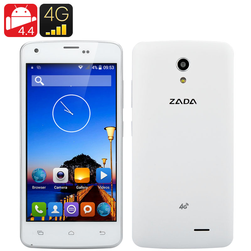 Zada Z1 4G Smartphone - Quad Core 64 Bit CPU, 4.5 Inch IPS Display, Dual SIM 4G, Smart Wake, Smart Gesture, Android 4.4 OS