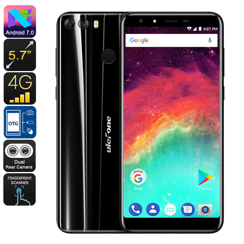 HK Warehouse Preorder Ulefone Mix 2 Android Smartphone - Android 7.0, MediaTek CPU, 2GB RAM, 3300mAh, 13MP Dual-Cam (Black)