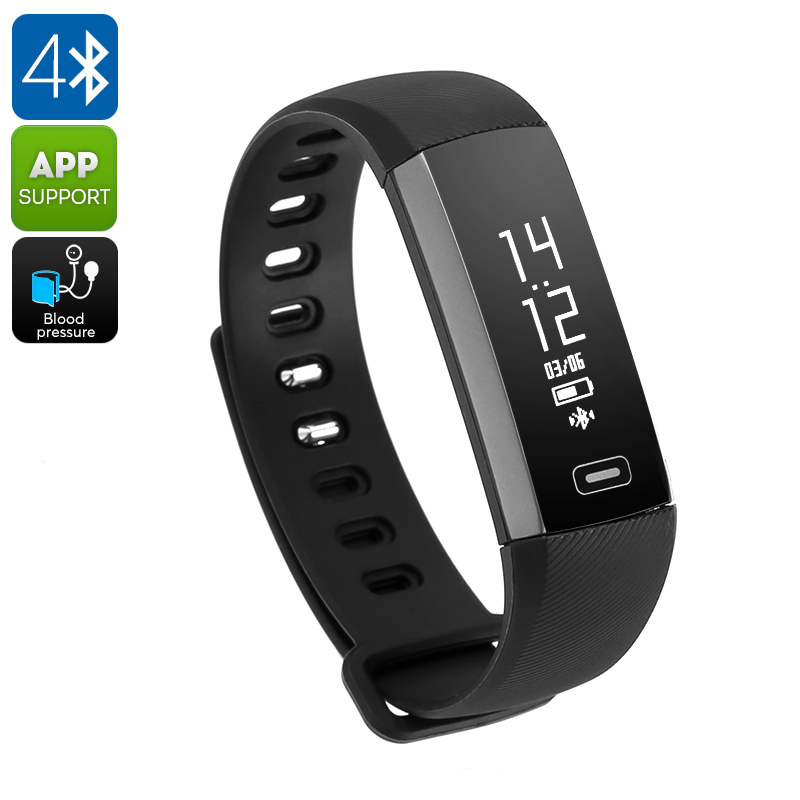 Fitness Tracker Bracelet M2S - IP67, Blood Pressure, Blood Oxygen, Heart Rate, Calorie Counter, Pedometer (Black) CVAGJ-W021-Black