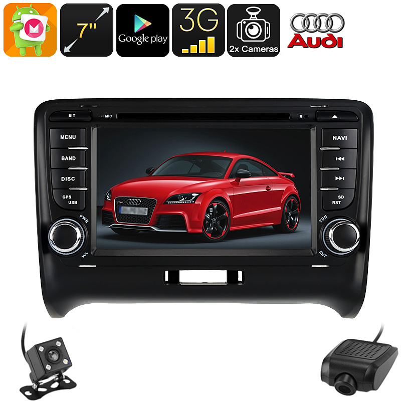 2 DIN Car DVD Player Audi TT - Android 6.0, Car DVR, Rear View Camera, GPS, 7 Inch HD, 3G Support, WiFi, Google Play, Octa-Core CVAIY-C557