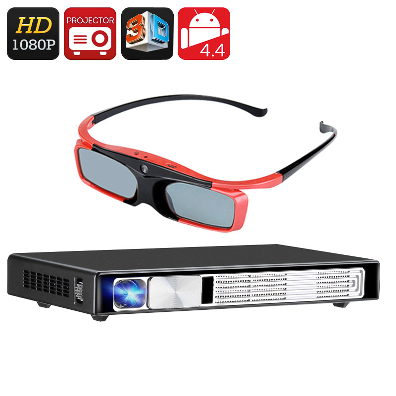 Full HD 3D DLP Projector - Android OS, Bluetooth 4.0, Wi-Fi, HDMI, VGA, 3D Support, 3D Glasses, Airplay, Miracast, DLNA CVXN-E594