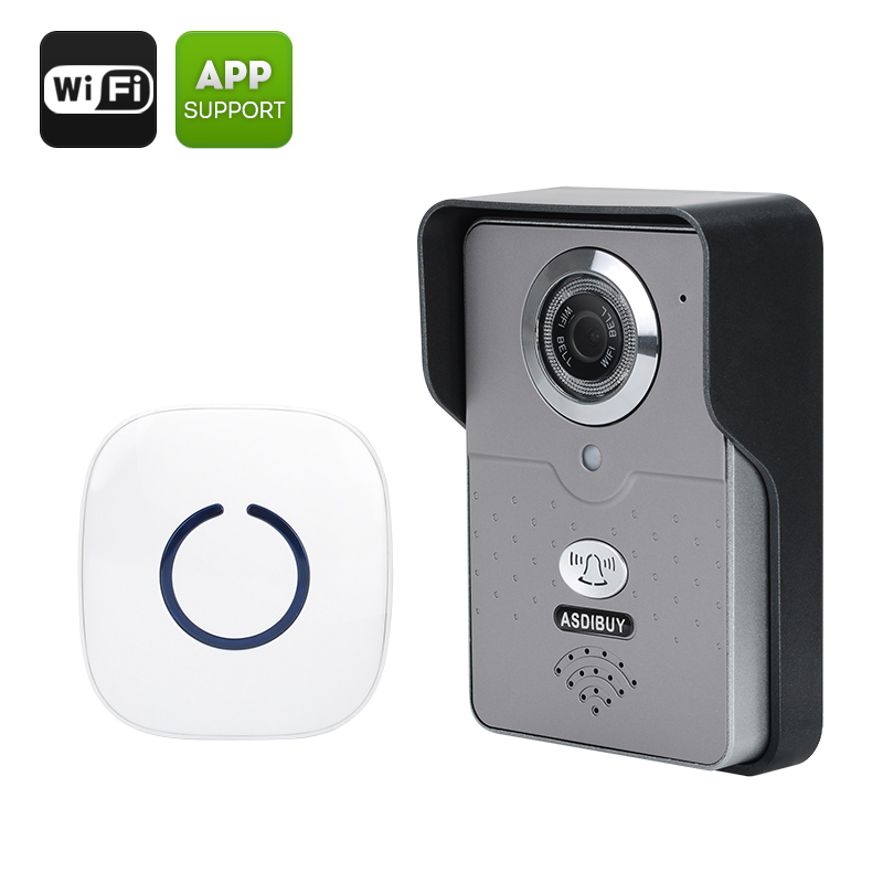 Asdibuy Smart Wifi Video Door Phone - Motion Detection, Night Vision, iOS + Android Support, Two-way Communication CVLM-J132