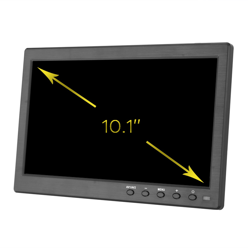 Image of 10.1 Inch TFT LCD Display - 1280x800 Native Resolution, LED Back Light, Built-in Speaker, HDMI, VGA, BNC, USB