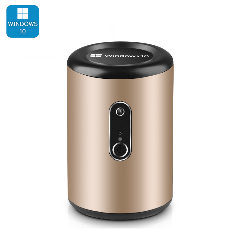Intel Mini PC 'Win Pro G2' - Windows 10, CR Z3736F Quad Core CPU, Wi-Fi, 2MP Camera, Bluetooth 4.0 (Gold)