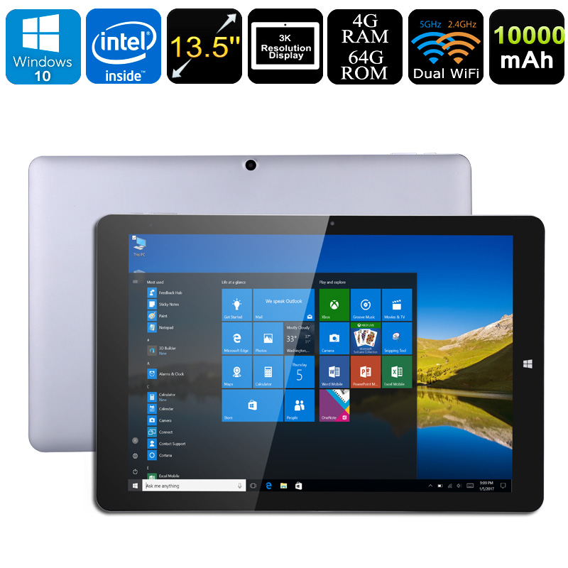 Windows Tablet PC Chuwi Hi13 - Intel Apollo Lake CPU, Windows 10, 4GB RAM, 13.5 Inch Display, 3K Resolution, Dual-Band WiFi