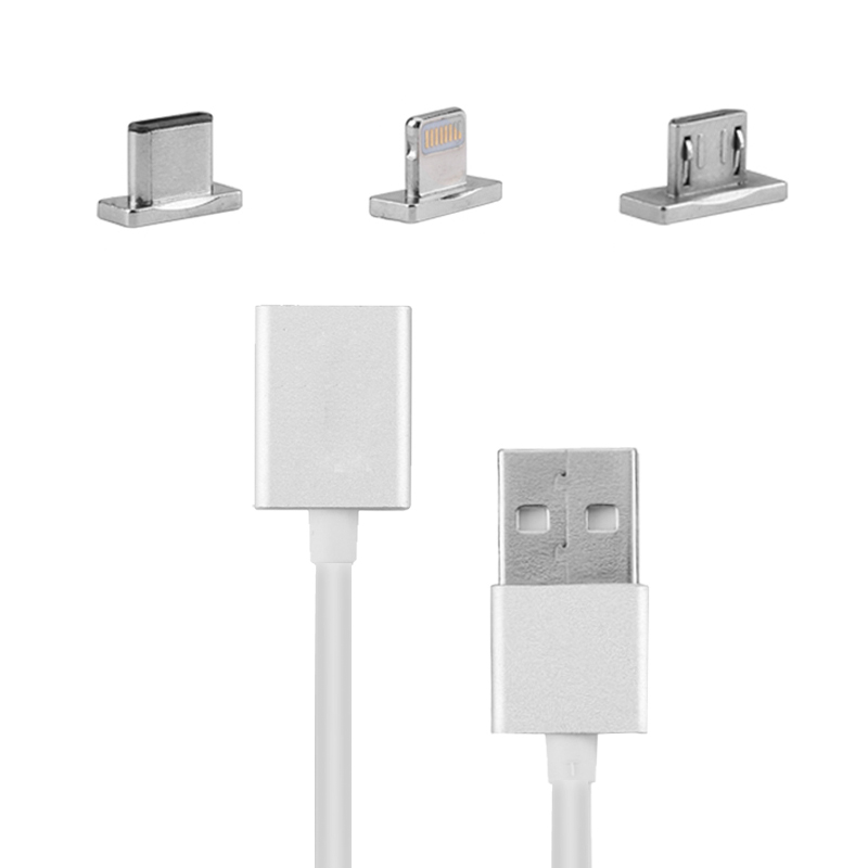 3 In 1 Magnetic USB Cable - Charging + Data Sync, 8 Pin, Micro USB, Type C USB, iPhones, Tablet PCs, Laptops, Android Devices