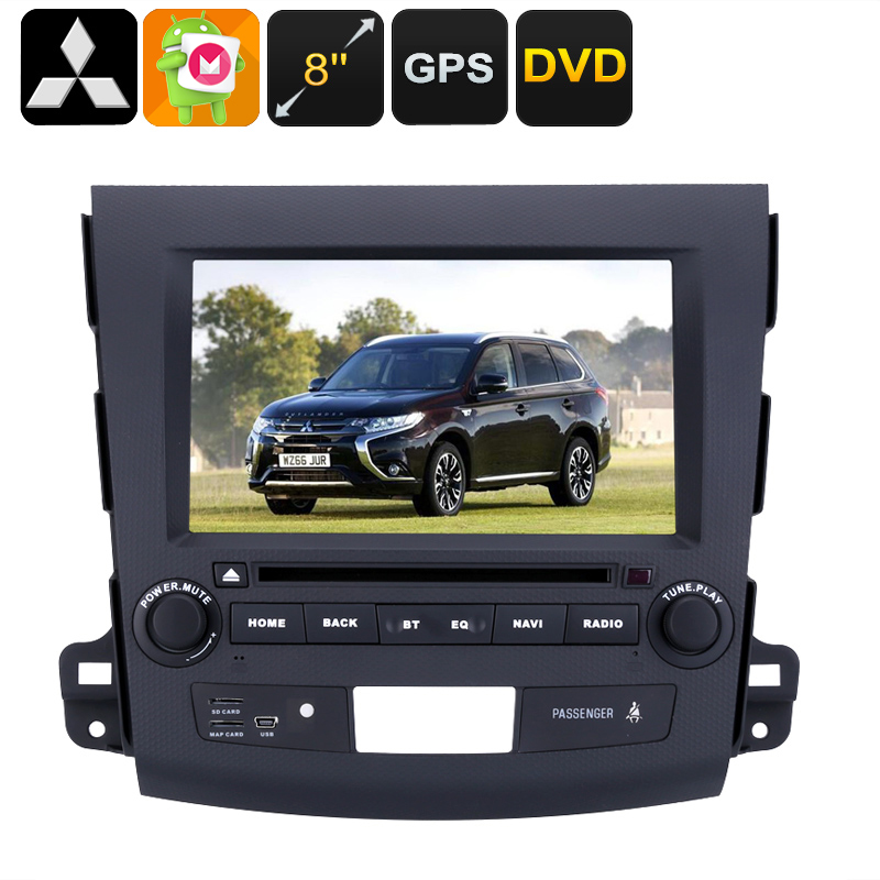 2 DIN Car DVD Player Mitsubishi Outlander - 8 Inch HD Display, Android OS, Quad-Core CPU, Region Free DVD, 3G Support, GPS CVABR-C490
