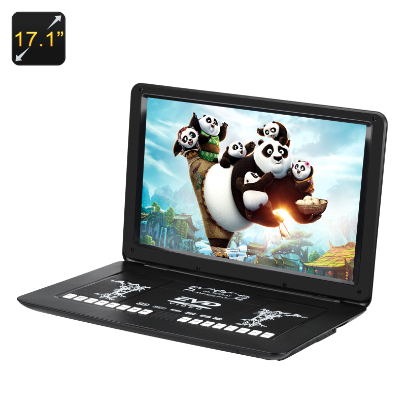 17.1 Inch Portable DVD Player - 1366x1280, Region Free, Anti Shock, USB, SD, AV, Game Emulation CVACC-E634