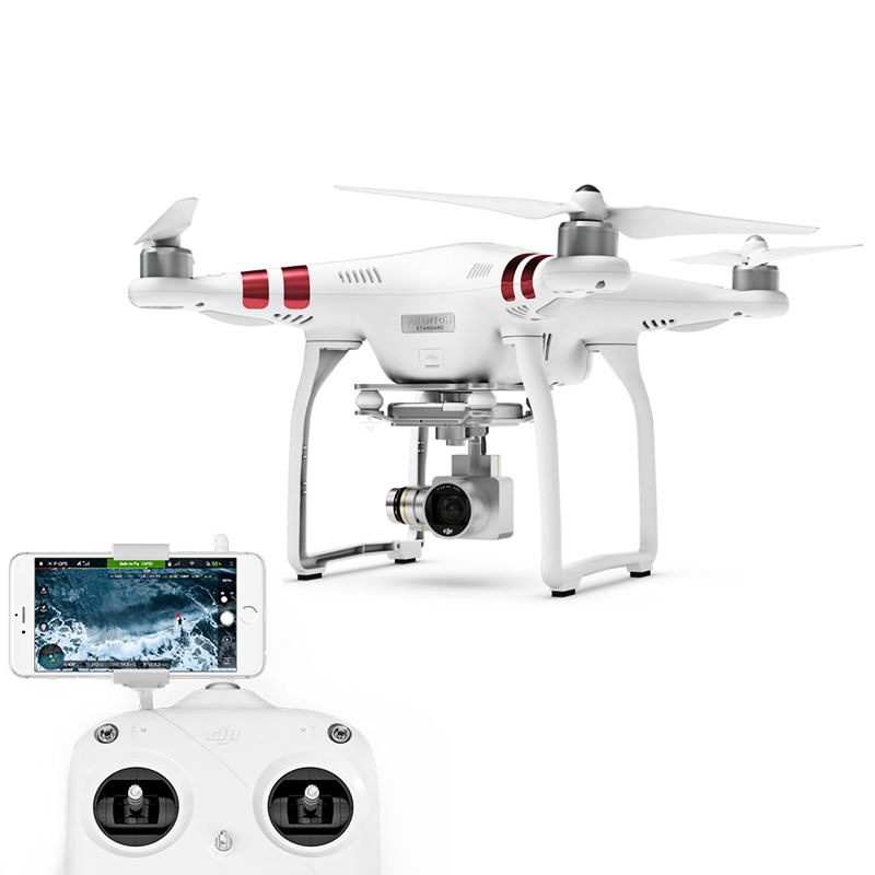DJI Phantom P3 Standard Drone - 2K Camera, 12MP Pictures, Stable Footage, 720P Real-Time View, 25 Min Flight Time, GPS