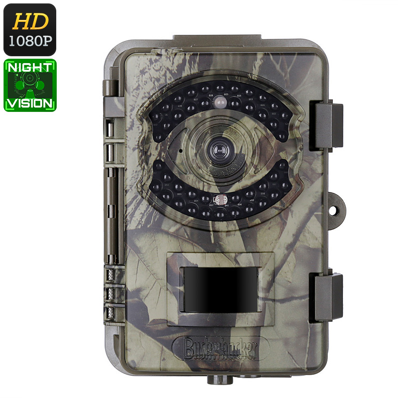 1080p Trail Camera - FHD Video, 16MP Pictures, PIR Sensor, 20m Night Vision, IP66 Waterproof, Time Stamp, 2.4-Inch Display thumbnail