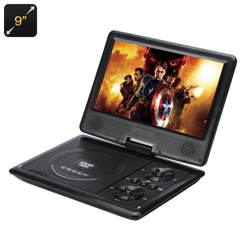 9 Inch Portable Region Free DVD Player - 270 Swivel Screen, Hitachi Lens, 16:9 Aspect, 1280x800 Resolution, SD Card Slot CVACC-E500