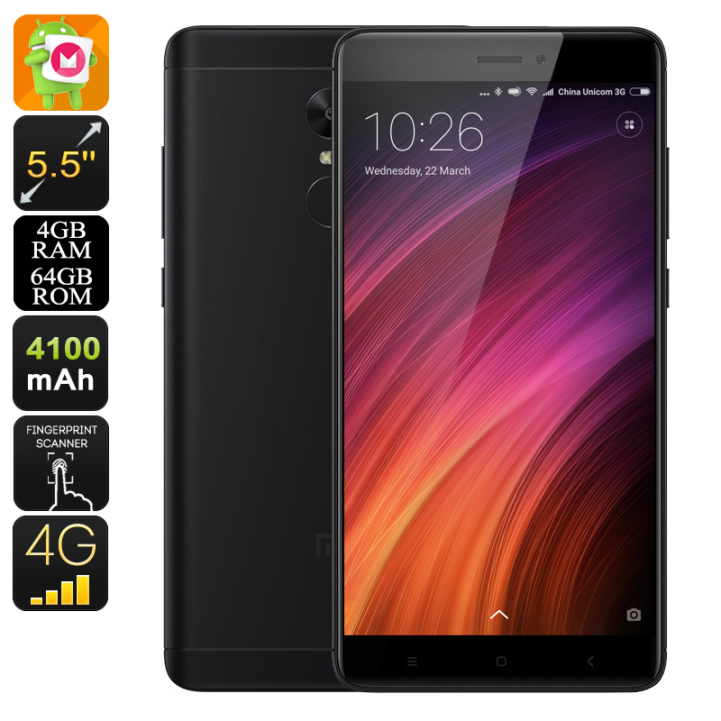 Xiaomi Redmi Note 4X Android Phone - Deca-Core CPU, 4GB RAM, 4G, Dual-Band WiFi, Android 6.0, Dual-IMEI, 5.5-Inch (Black)