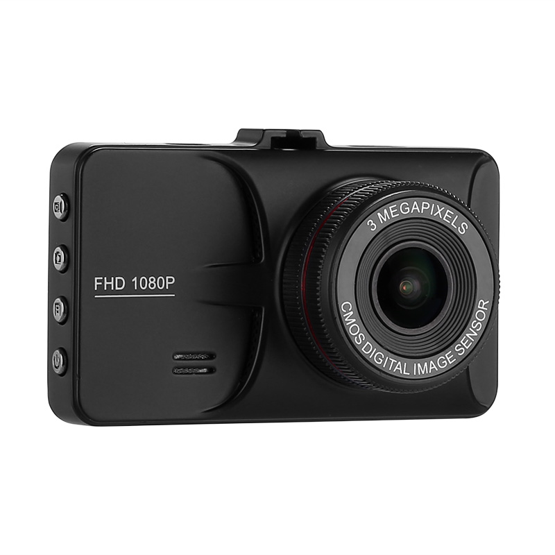 Image of 1080p Car DVR - 3-Inch Display, 140-Degree View Angle, G-Sensor, Motion Detection, 12MP Pictures, Full-HD Video